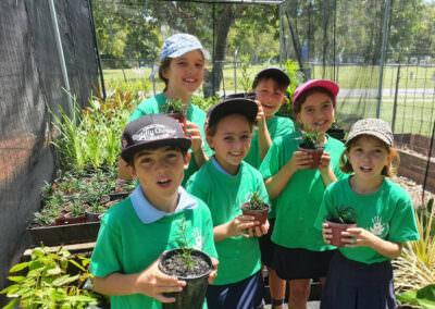 Woolworths Junior Landcare Grants Dunwich State School Winners Kids Smiling
