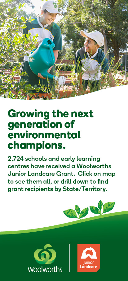 Woolworths Junior Landcare Grants 2724 schools received grants